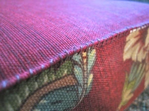 Upholstery fabric is nice to work with because it holds it shape so well.